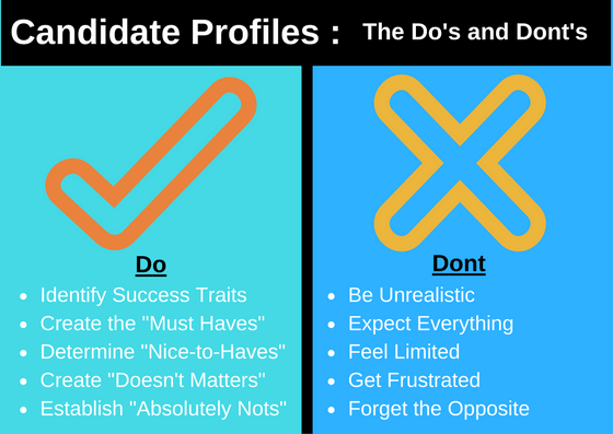 Candidate Profil do's and don'ts infographic by The Hire Talent