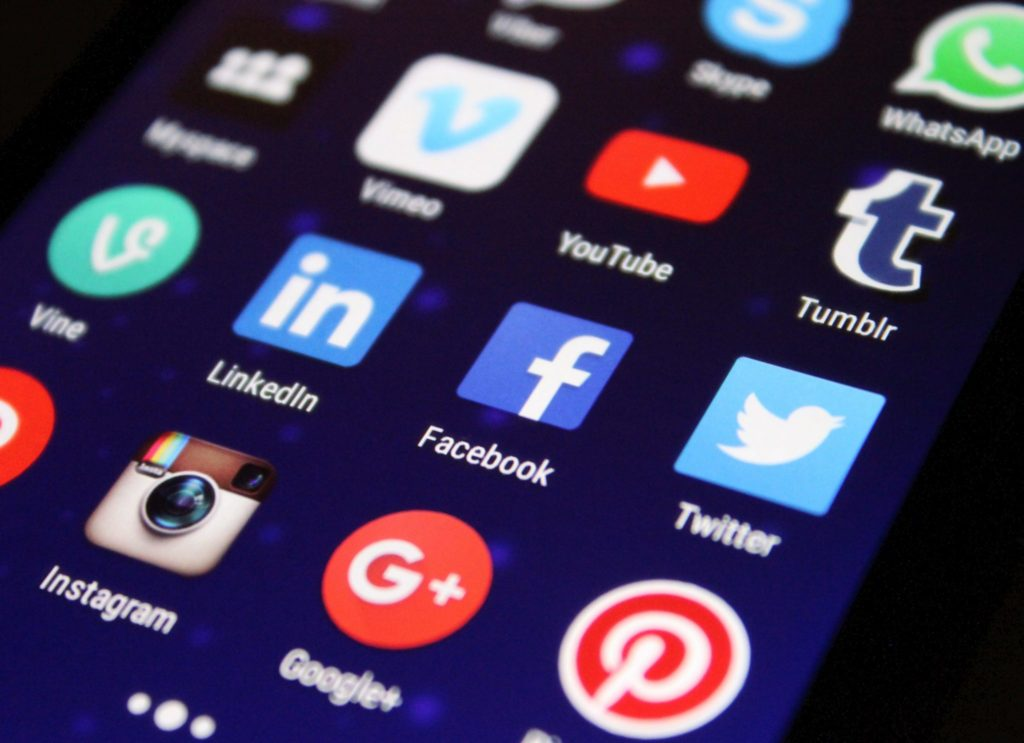 social media icons like facebook, linkedin, twitter, instagram, google plus, pinterest, and youtube can be used for recruiting top talent and creating a brand strategy.
