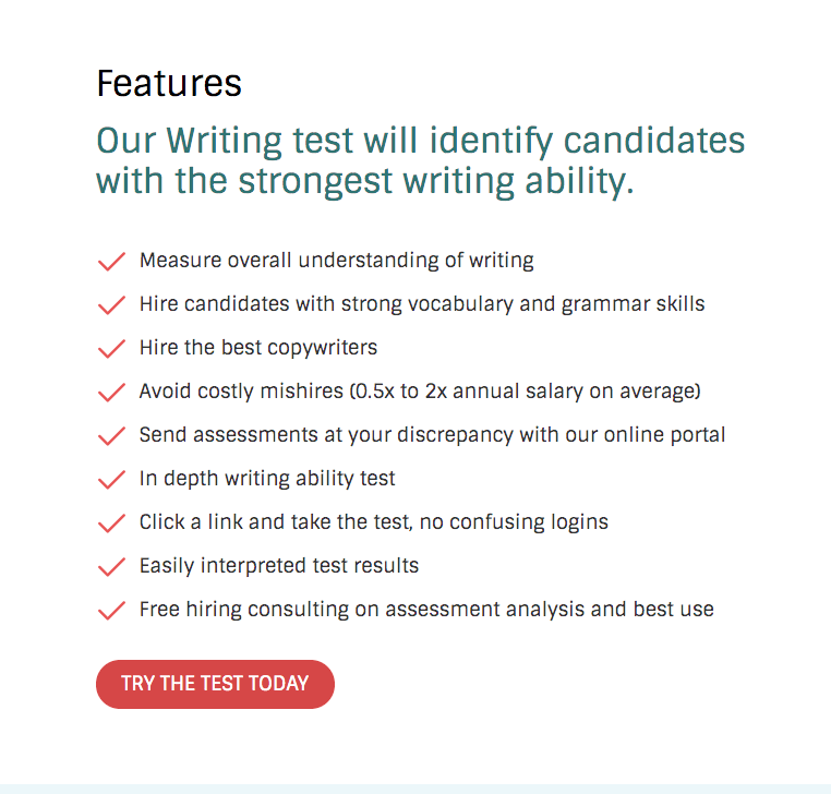 Writing Skills Test For Candidates The Hire Talent Assessing writing is a refereed international journal providing a forum for ideas, research and practice on the assessment of written language. writing skills test for candidates
