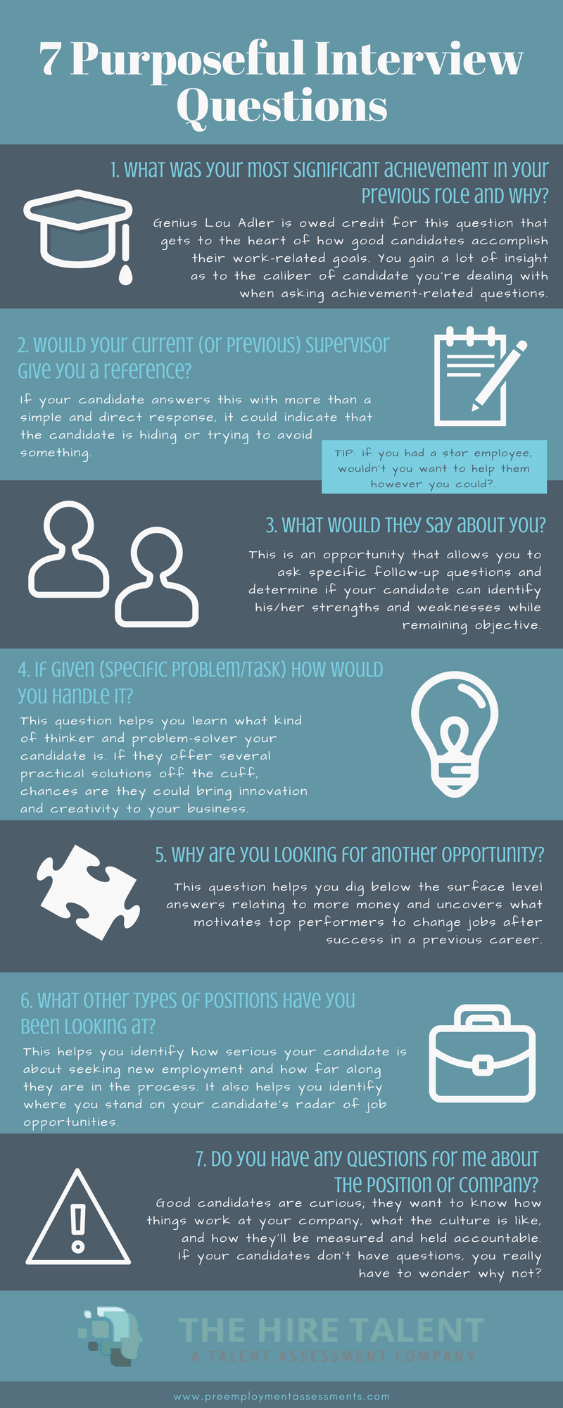 7 Purposeful interview questions