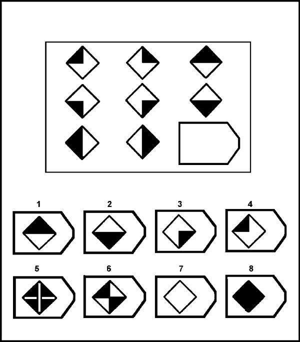 ravens matrices spatial reasoning test